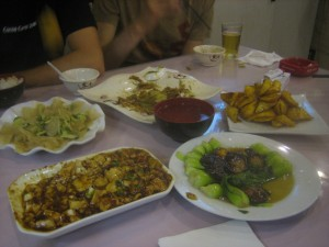 A delicious dinner, 吃好!